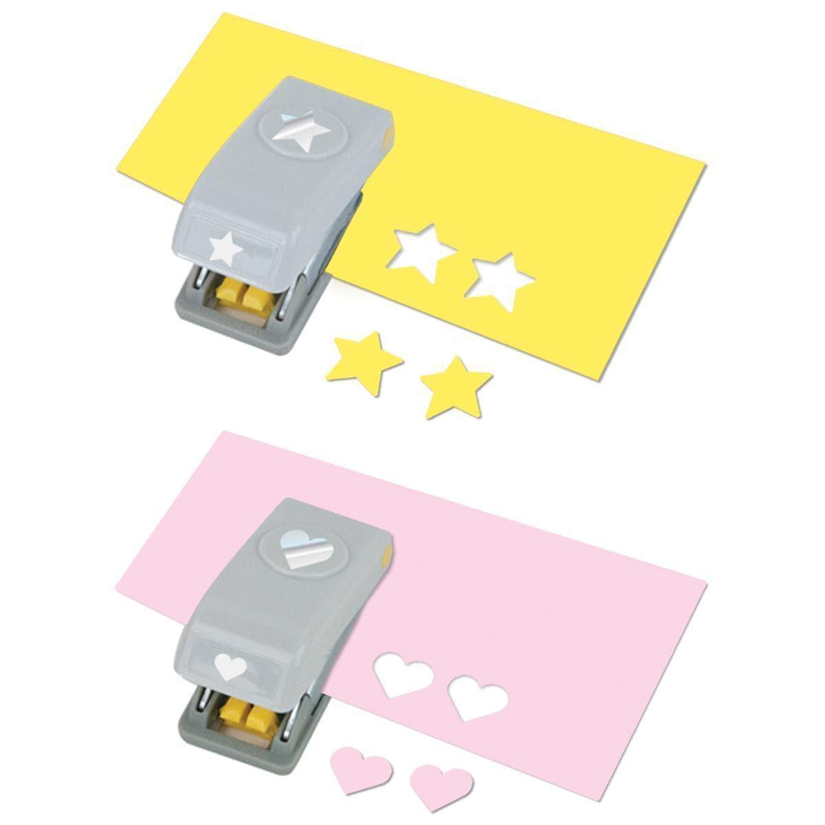 EK Slim Mini Paper Punches 2/Pkg - Heart & Star