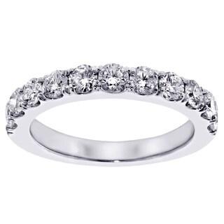 14k White Gold 1ct TDW Diamond Wedding Band