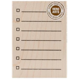 Hero Arts Mounted Rubber Stamps 3 X4  - My Checklist