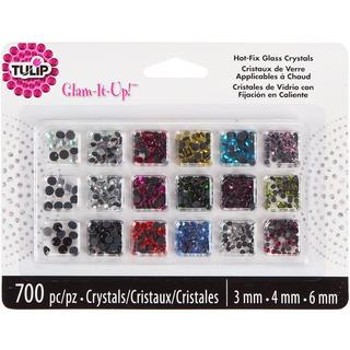 Tulip Glam-It-Up! HotFix Glass Crystals 700/Pkg - Assorted Colors