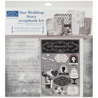 Our Wedding Story Scrapbook Page Kit 12 X12 -|https://ak1.ostkcdn.com/images/products/8383481/P15687310.jpg?_ostk_perf_=percv&impolicy=medium