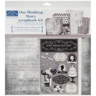 Our Wedding Story Scrapbook Page Kit 12 X12 -|https://ak1.ostkcdn.com/images/products/8383481/P15687310.jpg?impolicy=medium