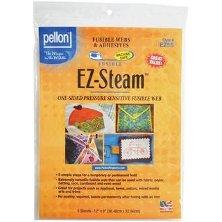 Pellon EZ Steam 12 X9 Sheets 5/Pkg - White