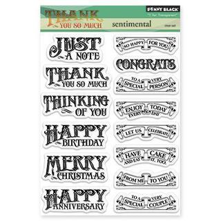 Penny Black Clear Stamps 5 X7.5  Sheet - Sentimental