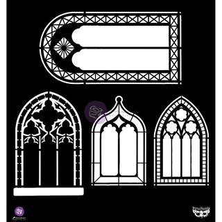 Elementals Stencil 12 X12  - Windows