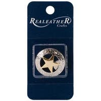 Concho 1  Silver/Gold 1/Pkg - Engraved Star