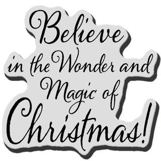 Stampendous Christmas Cling Rubber Stamp - Believe Christmas