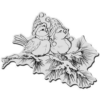 Stampendous Christmas Cling Rubber Stamp - Winter Birds