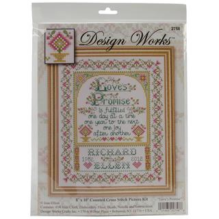 Loves Promise Counted Cross Stitch Kit - 8 X10 14 Count