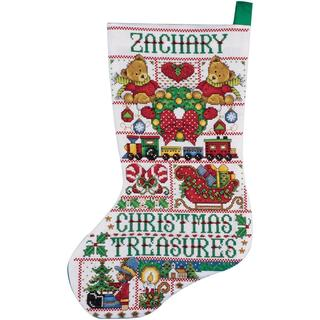 Christmas Treasures Stocking Counted Cross Stitch Kit - 17 Long 14 Count