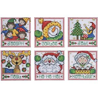 Holiday Tags Counted Cross Stitch Kit - 4 X4 14 Count Set Of 6