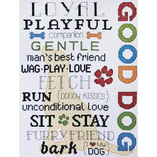Good Dog Counted Cross Stitch Kit - 9 X12 14 Count