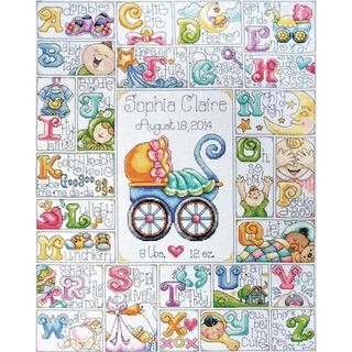 Baby ABC Counted Cross Stitch Kit - 16 X20 14 Count