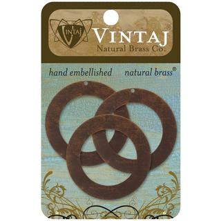 Vintaj Metal Accents 3/Pkg - Circle Frame 34mm