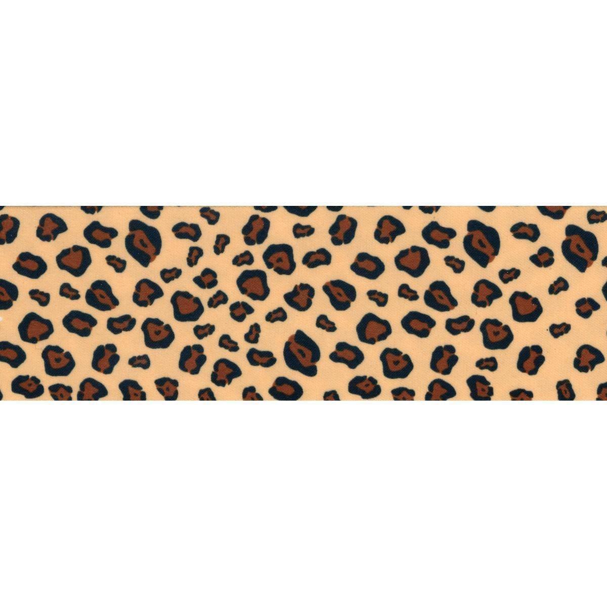 Leopard Wrights Single Fold Satin Fancy Blanket Binding 2 by 4-3//4-Yard