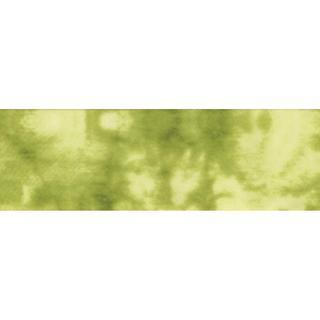 Single Fold Satin Fancy Blanket Binding 2 4-3/4 Yards - Tie Dye Lime