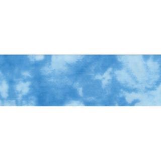 Single Fold Satin Fancy Blanket Binding 2 4-3/4 Yards - Tie Dye Blue