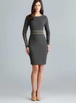 Philosophy Long Sleeve Stud Embellished Sheath Dress - Free ...