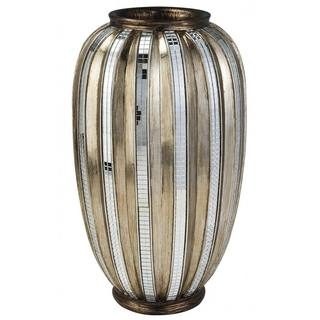 silver gold metallic tiles decorative vase free shipping today overstockcom 15689150 - Decorative Vases