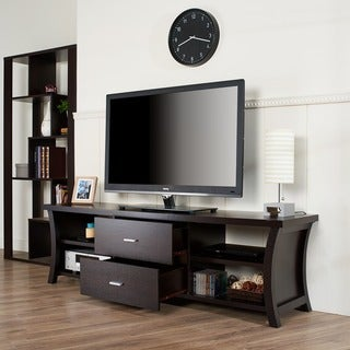 Furniture of America Lynarra 2-drawer TV Stand with Open Shelving