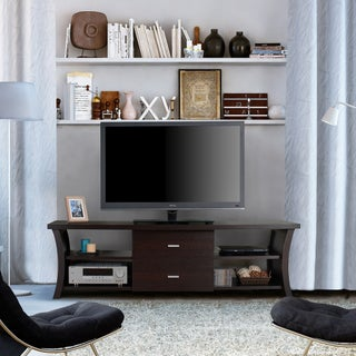 The Gray Barn Elsinora Modern 2-drawer TV Stand with Open Shelving (4 options available)