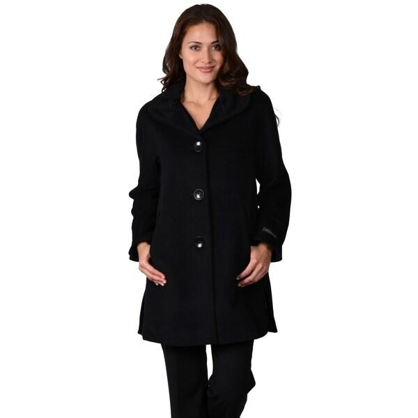 Ellen Tracy Women's A-line Wool Blend Coat