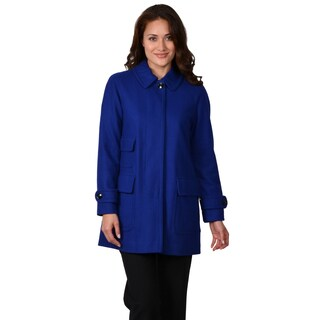 Ellen Tracy Women's Wool Blend Stadium Coat