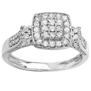 Elora 14K White Gold 1/2ct TDW Diamond Engagement Ring (H-I, I-I2)