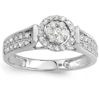 Elora 14k White Gold 1/2ct TDW Diamond Engagement Ring (H-I, I1-I2)
