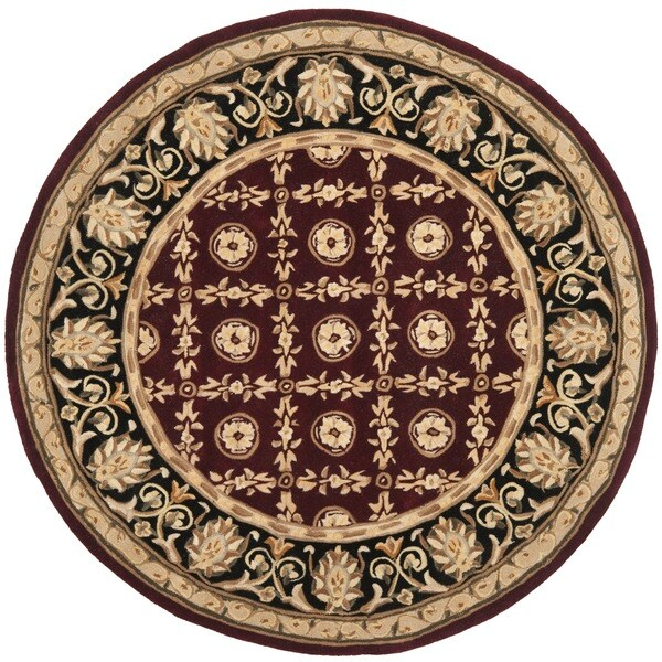 Shop Safavieh Handmade Naples Burgundy/ Black Wool Rug