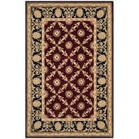 Safavieh Handmade Naples Burgundy/ Black Wool Rug - 8' x 11'