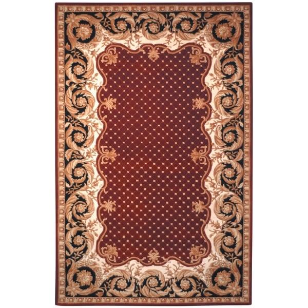 Safavieh Handmade Naples Burgundy Wool Rug - 8' x 11'