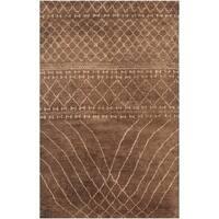 Safavieh Hand-knotted Loft Bronze New Zealand Wool Rug - 6' x 9'