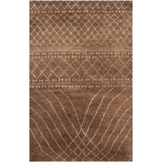 Safavieh Hand-knotted Loft Bronze New Zealand Wool Rug (8' x 10')