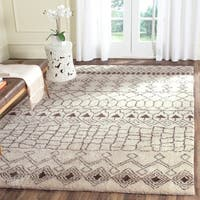 Safavieh Loft Cream/ Brown Hand-knotted New Zealand Wool Area Rug - 6' x 9'