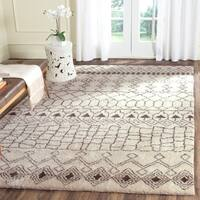 Safavieh Hand-knotted Loft Cream/ Brown New Zealand Wool Area Rug - 9' x 12'