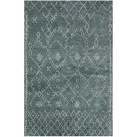 Safavieh Hand-knotted Loft Aquamarine New Zealand Wool Rug - 6' x 9'