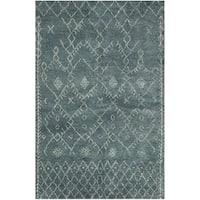 Safavieh Hand-knotted Loft Aquamarine New Zealand Wool Rug - 8' x 10'