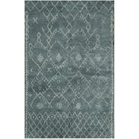 Safavieh Hand-knotted Loft Aquamarine New Zealand Wool Rug - 9' x 12'