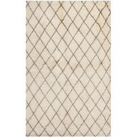 Safavieh Hand-knotted Loft Cream/ Brown New Zealand Wool Rug - 6' x 9'