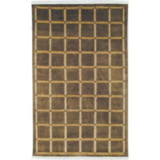 Safavieh Hand-knotted Lexington Soft Green/ Beige Wool Rug (5' x 8')