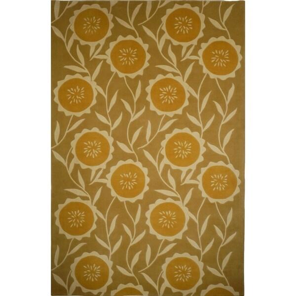 Safavieh Handmade Mandarin Sage/ Rust Wool Rug - 9' x 12'