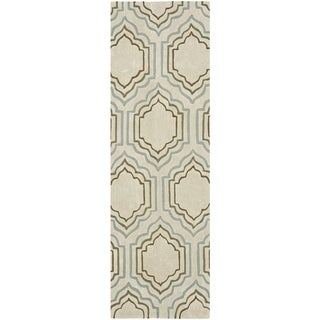 Safavieh Handmade Modern Art Moroccan Beige/ Multicolored Polyester Rug (2'3 x 6')