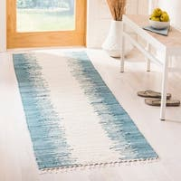 Safavieh Hand-woven Montauk Blue Cotton Rug - 2'3 x 6'