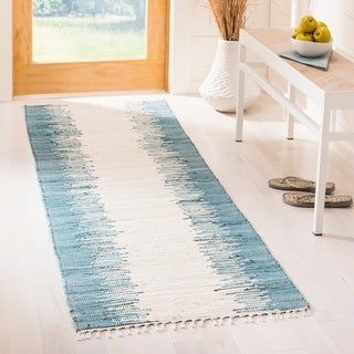 Safavieh Hand-woven Montauk Blue Cotton Rug (2'3 x 9')