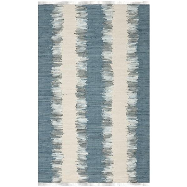 Safavieh Hand-woven Montauk Blue Cotton Rug (6' x 9')