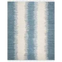 Safavieh Hand-woven Montauk Blue Cotton Rug - 9' x 12'