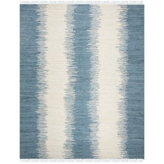 Safavieh Hand-woven Montauk Blue Cotton Rug (9' x 12')