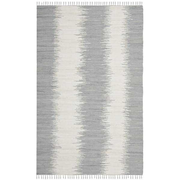 Safavieh Hand-woven Montauk Grey Cotton Rug (9' x 12') - 9' x 12'