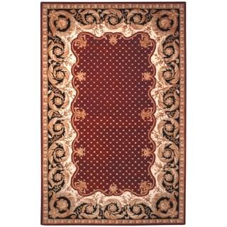 Safavieh Handmade Naples Burgundy Wool Rug (5' x 8')